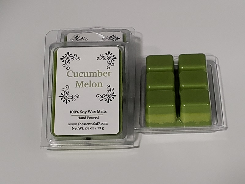 HOME ESSENTIALS- Scented Soy Wax Melts (Cucumber Melon)