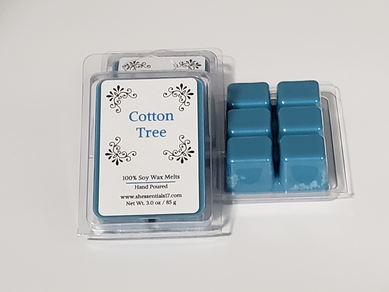 HOME ESSENTIALS- Scented Soy Wax Melts (Cotton Tree)