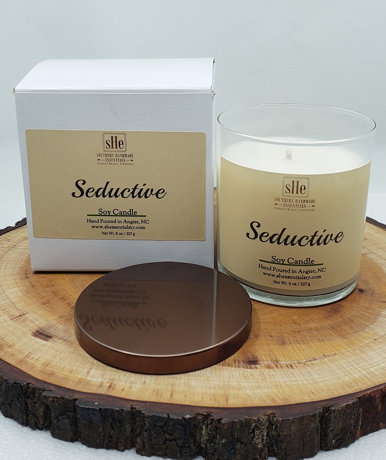 HOME ESSENTIALS- Soy Candle (Seductive)