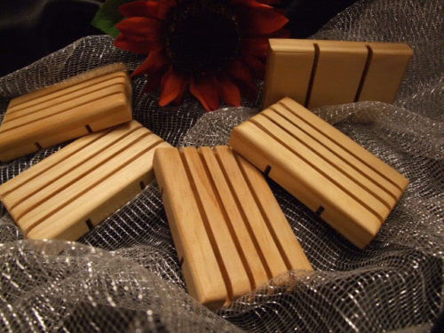 Accessories- Natural Handmade Wood Soap Dish