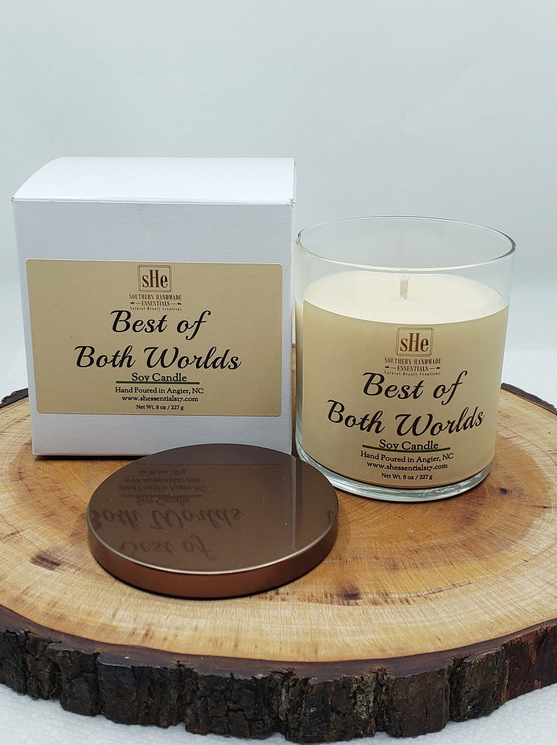 HOME ESSENTIALS- Soy Candle (Best of Both Worlds)