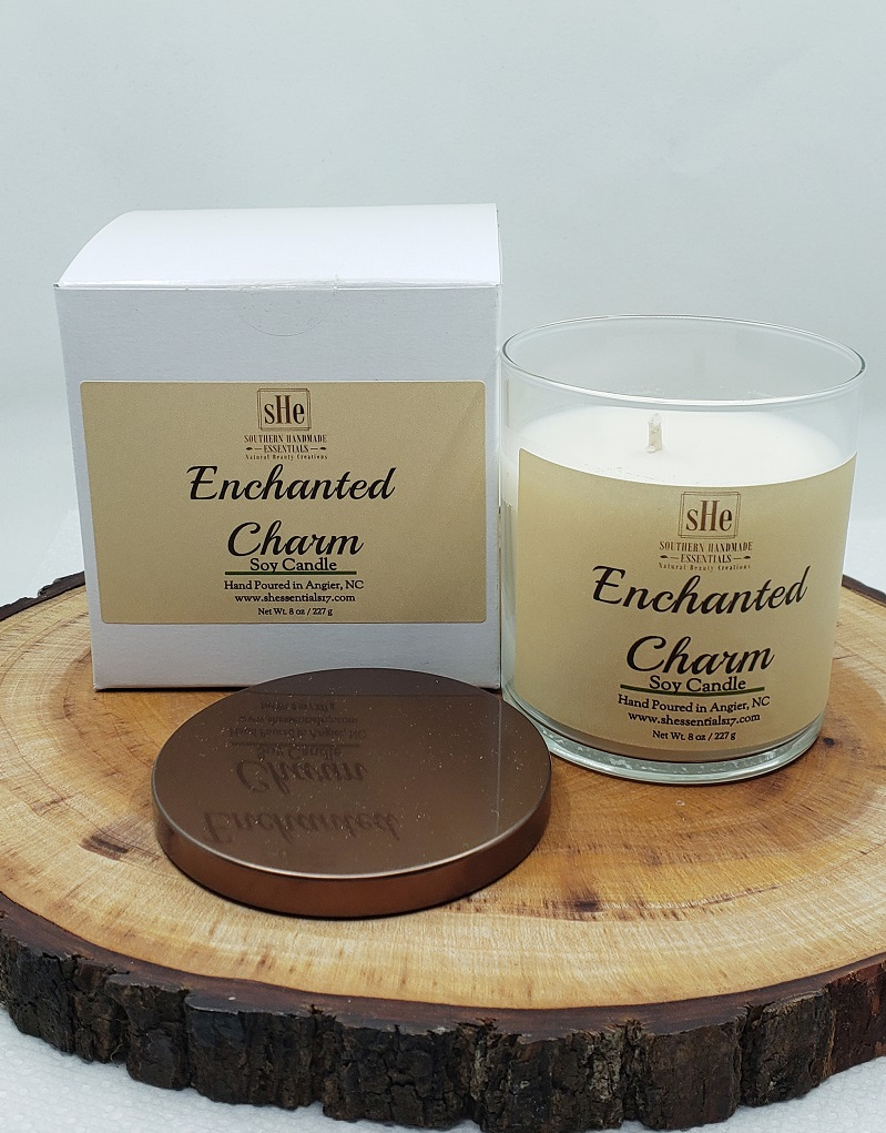 HOME ESSENTIALS- Soy Candle  (Enchanted Charm)